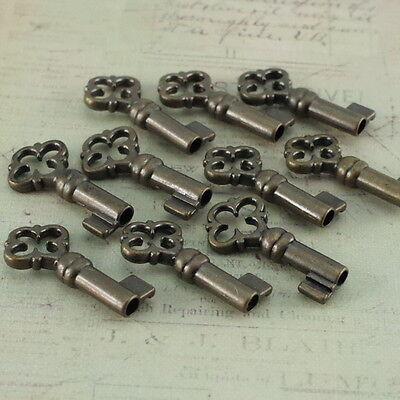 (Lot of 50) Old Antique Vintage Style Keys Skeleton Open Barrel Keys - New