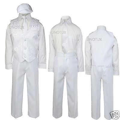 Hospitable White Boy Baby Infant Toddler Church Baptism Christening Vest Suit New Born - 4t To Prevent And Cure Diseases