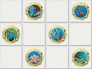 """Carrelage Transfers Stickers Coloré Imprimé Navire Hublots Packs De 6"""" Ou 4"""" 6 & 12-afficher Le Titre D'origine Zp1ggvbr-08004829-331498791"""
