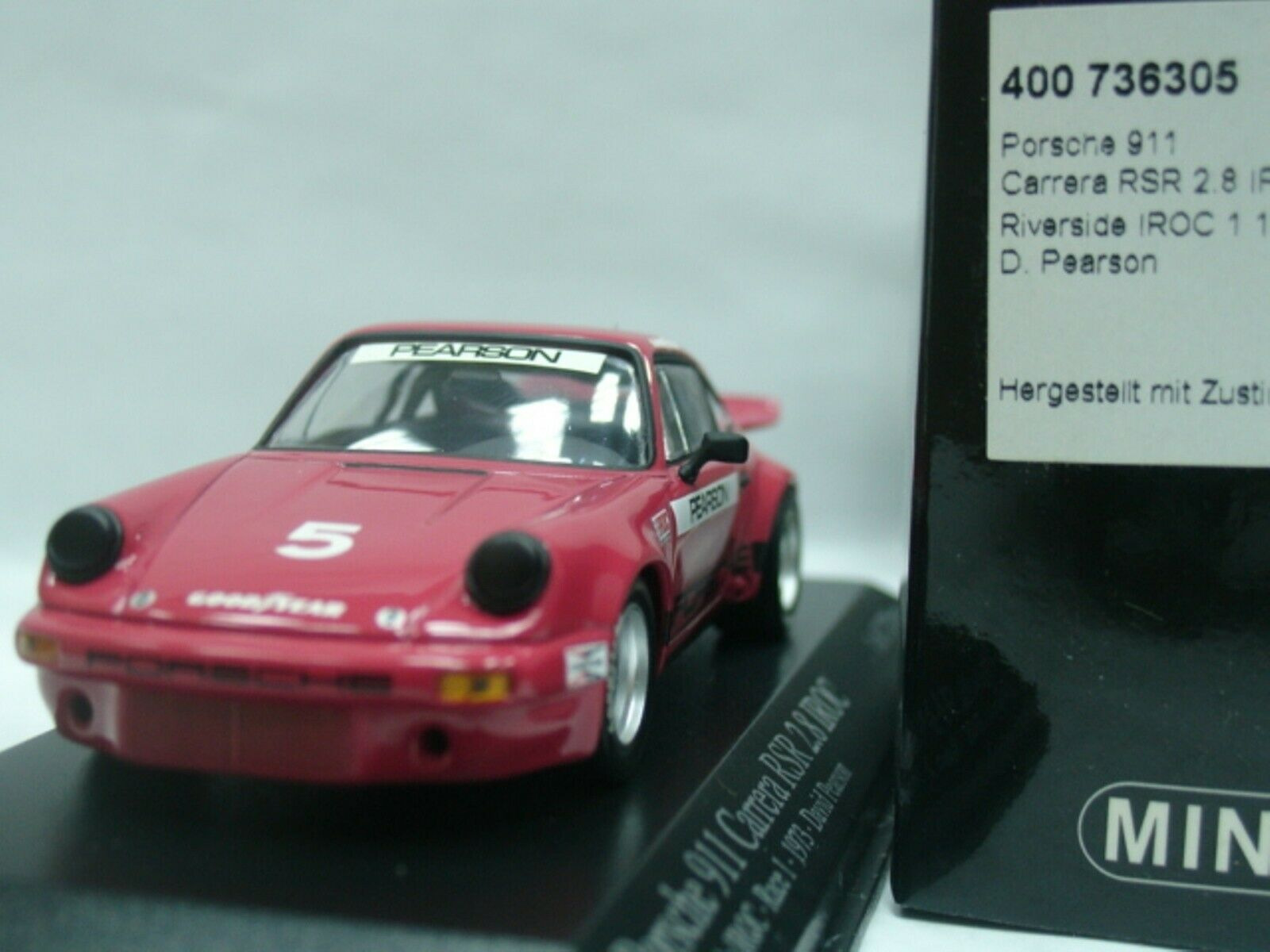 WOW EXTREMELY RARE Porsche 911 RSR 3.0 Pearson IROC 1973 1 43 Minichamps-GT2