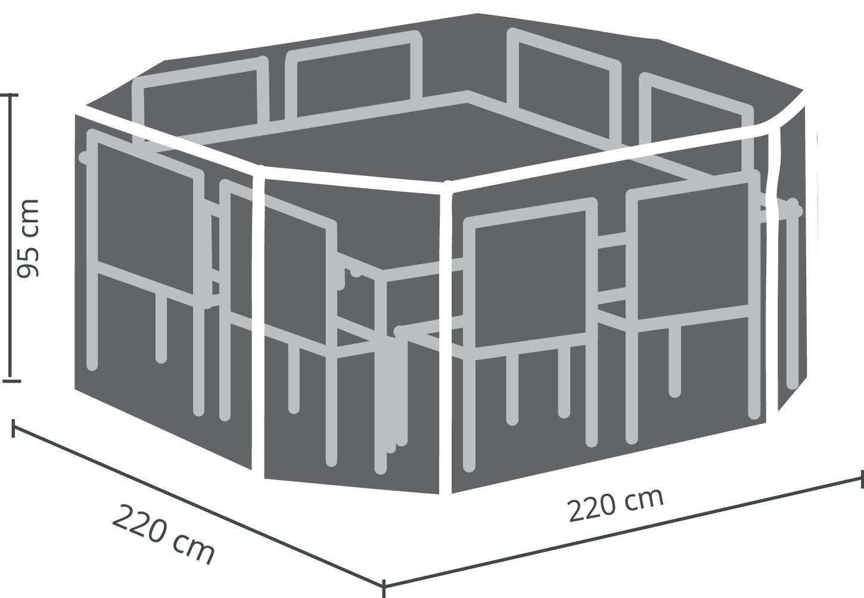 Premium Schutzhülle für Sitzgruppen octagonal 220x220x95cm     | Bekannt für seine hervorragende Qualität