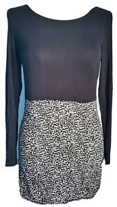 Pepperberry-Women-039-s-Tunic-Dress-Black-White-Size-8-Curvy-Really-Curvy-Spotted