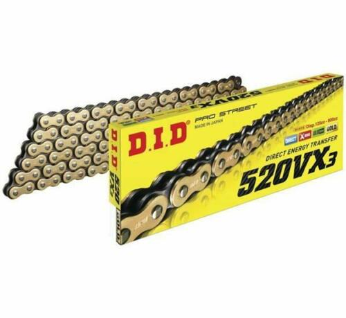 DID 520 VX3 x 92 Link Gold Black X-Ring Chain Polaris Predator 500 2005-2007