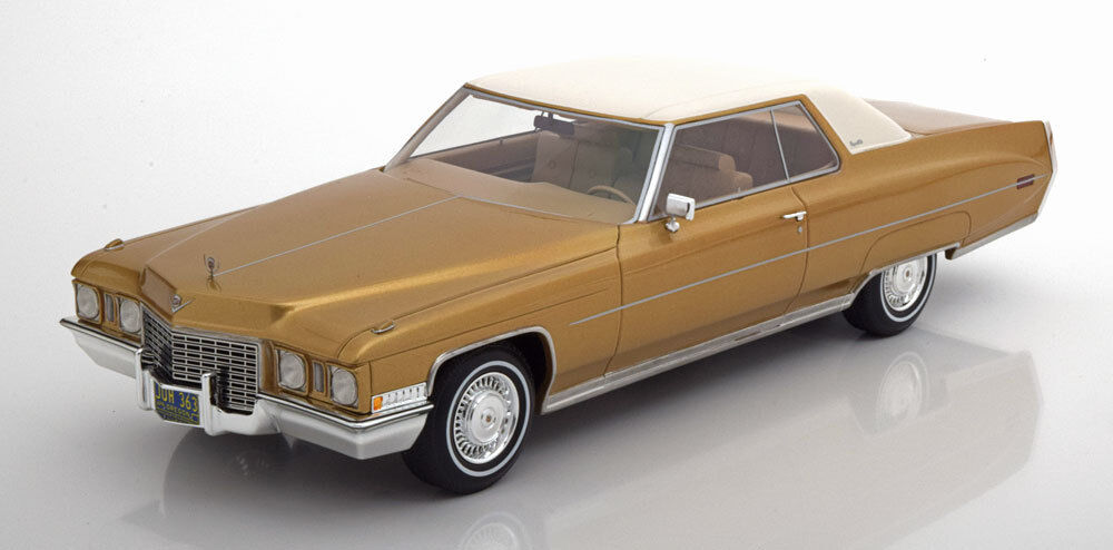 1972 Cadillac Coupe DeVille gold with White Roof by BoS Models LE 300 1 18 New