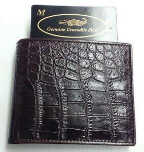 Genuine Real Crocodile Alligator Belly Leather Skin Man