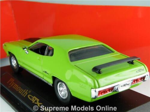 ^ Plymouth GTX 1971 Coche Modelo de tamaño 1//43RD Verde Usa American tipo PKD Y0675J ^