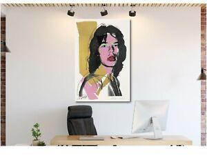 Mick-Jagger-Andy-Warhol-Canvas-Wall-Art-Print-Various-Sizes