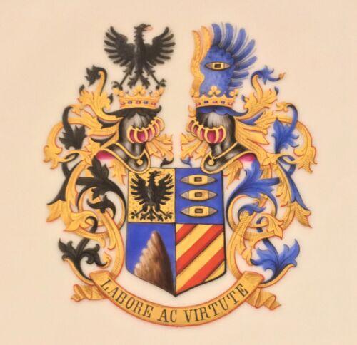 Wappenteller BARON MALFATTI DI MONTETRETTO, italienischer Diplomat, Geheimagent!