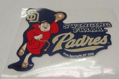 MLB South Dakota Padres Swinging Friar Decal Window Sticker Car or Truck