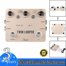 TWIN LOOPER Guitar Effect Pedal Mono Stereo Input/Output Sound Recording US New