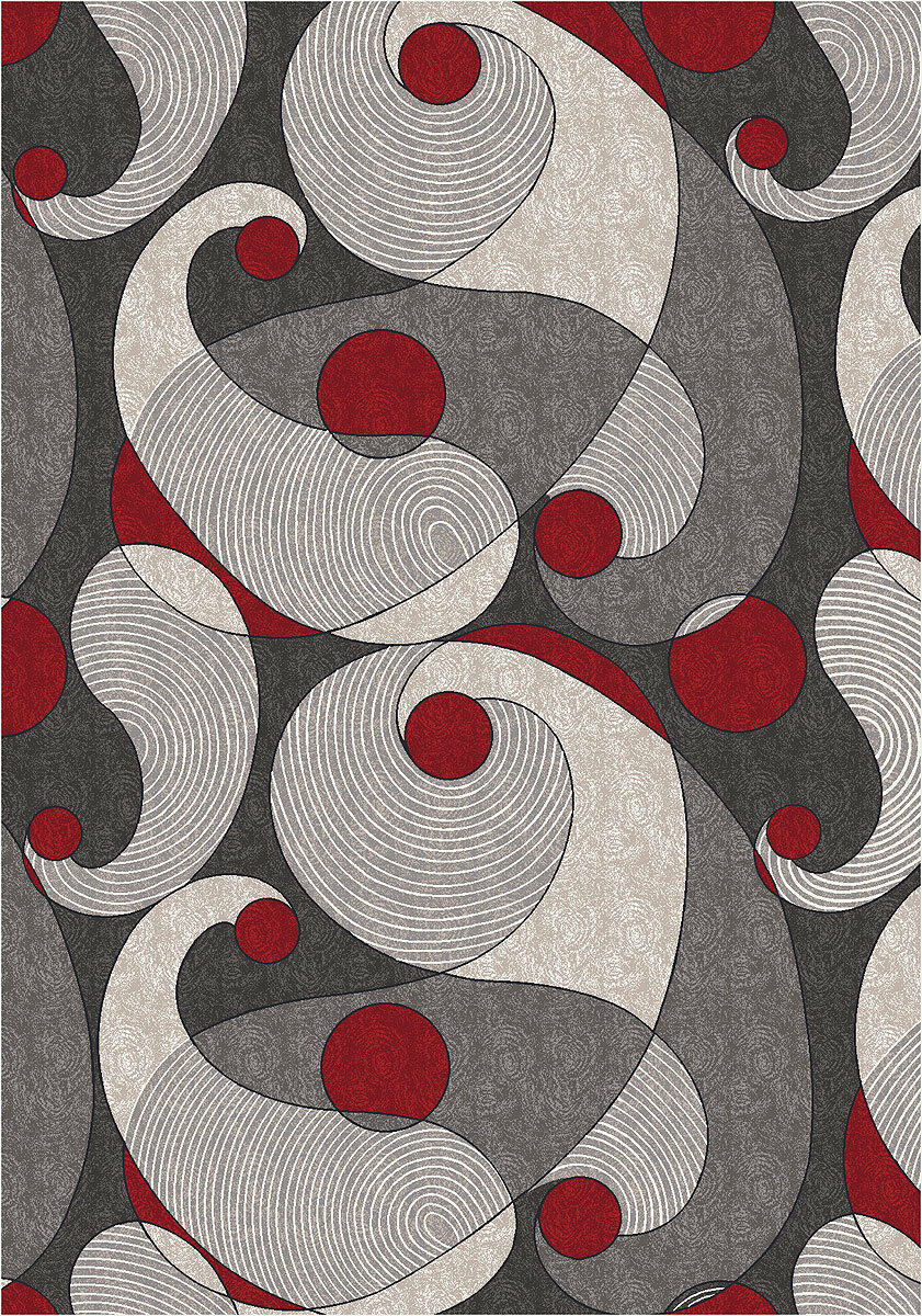 4x6 Milliken Muse Ebony Modern Abstract Circles Area Rug - Approx 3'10 x5'4