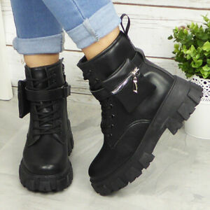 heeled chunky ankle boots