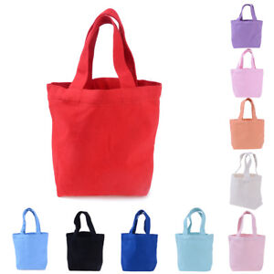 1X-Portable-Women-Girl-Canvas-Shopping-Lunch-BagTote-Shopper-Beach-Bag-rs