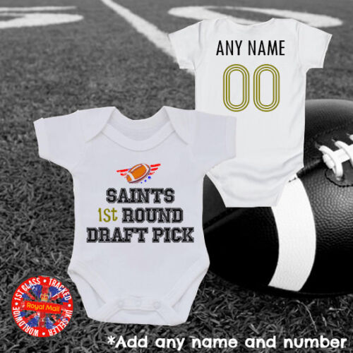 Personalised New Orleans,USA America Saints Baby Grow Vest