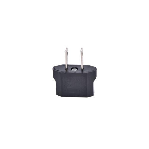 4PCS EU Euro Europe to US USA Power Jack Wall Plug Converter Travel Adapter`US