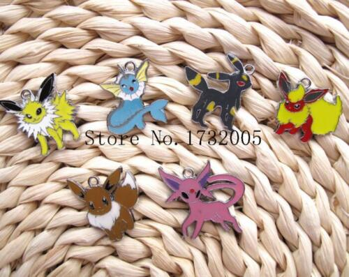 Lots pokemon Pikachu Metal Charms Jewelry Making DIY Pendants Earrings  JT265