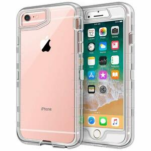 Iphone 6s Plus Case Iphone 6 Plus Case Crystal Clear 3 In 1 Heavy Duty Bumper Ebay
