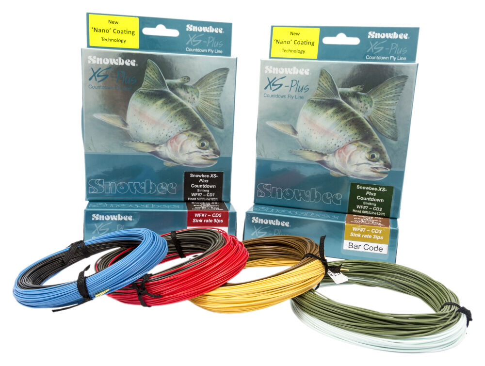 Snowbee XS Plus Countdown 7ips Fast Sinking Fly Lines with  NEW NANO COATING  at cheap