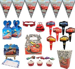 Disney-Car-Plate-Flag-Cup-Candy-Box-Party-Tableware-Birthday-Decoration-Supplies