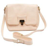 Orla Kiely Cream Calico Bonnie Leather Gold Clasp Designer Handbag Rrp £370