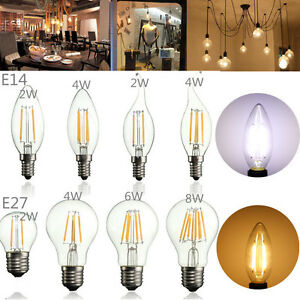 E14-E27-2w-4w-6w-8w-Edison-Filament-COB-LED-Candle-Light-Globe-Bulb-White-Lamp-N
