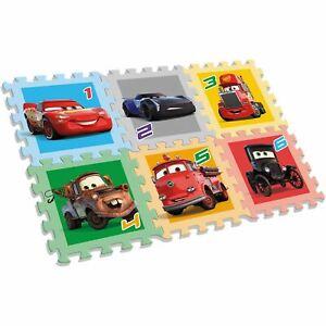 Officiel-Disney-Cars-Mousse-Jeu-Tapis-6-Pieces-Puzzle-Garcons
