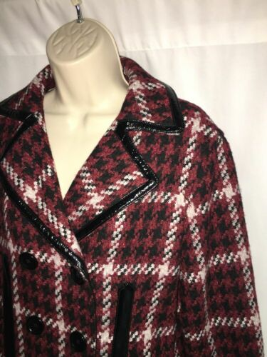 Color Medium Plaid 198 Nwt Jacket Kvinder Sort Express Multi Peacoat UpwXEX