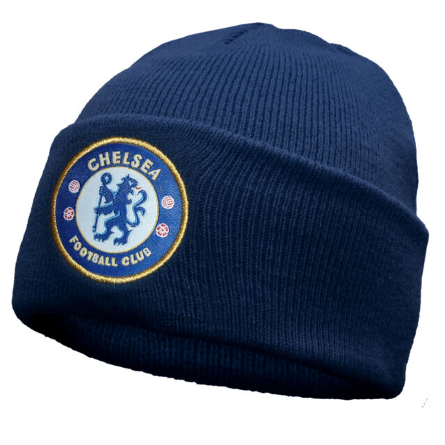 764741397 Chelsea FC Official Football Gift Knitted Bronx Beanie Hat