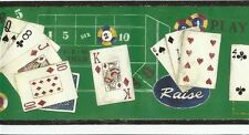 SALE...15 feet of Casino Poker Playing Cards Wallpaper Border 75478F