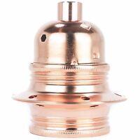 E27 Lampen-Fassung Metall mit Außengewinde u. Schraubringen, inkl Klemmnippel