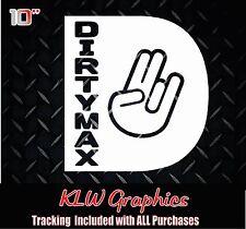 Dirtymax Shocker D * vinyl decal sticker Duramax Diesel Truck Crew Cab 2500 3500
