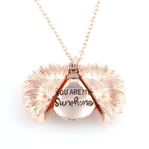 Unisex Necklace You Are My Sunshine Sunflower Pendant Open Chic Jewelry Gift yu