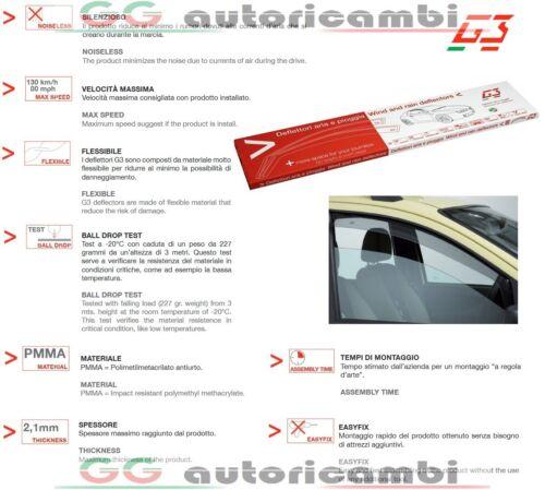 DEFLETTORI ARIA G3 FIAT STILO 2001/> 3 PORTE ANTITURBO ANTIVENTO