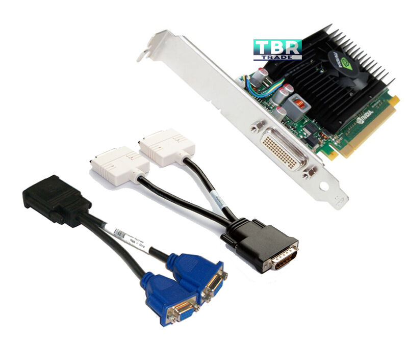HP NVIDIA NVS 315 Video Graphics card 1GB DDR3 Long E1U66AT 720837-001 DVI VGA