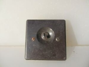 Vintage Bakelite Light Switch Square Plate Art Deco Antique Brown Old ROLLS