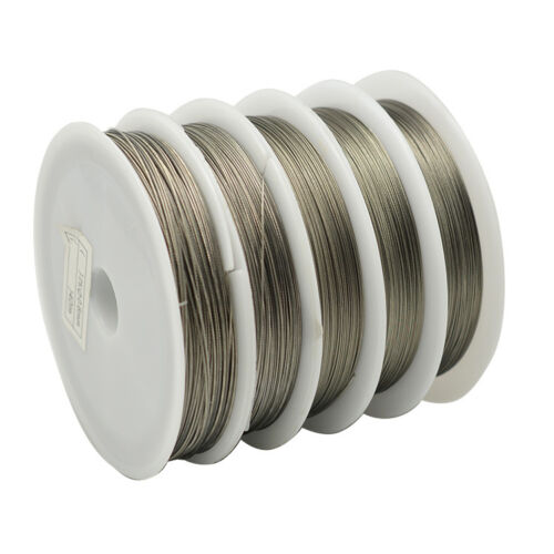 ❤ 50m Roll TIGERTAIL Beading Wire 0.45 mm Silver Jewellery Making ❤