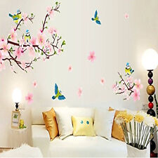 Removable PVC Plum Blossom Flower Birds Wall Sticker Home Art DIY Decals Decor
