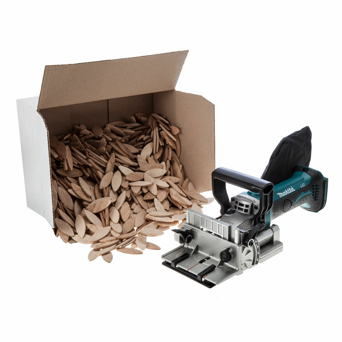Makita DPJ180Z 18V LXT Biscuit Jointer DPJ180 (replaces BPJ180) + 1000 Dowels