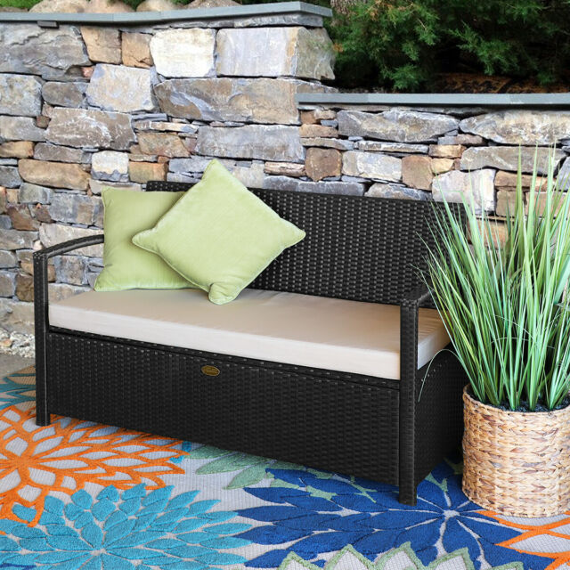Outdoor Storage Bench Garden Pool Deck