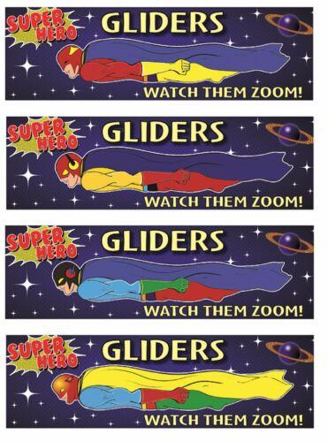 Flying Superhero Gliders Plane Party Bag Stocking Pinata Filler Toy Kids Gift