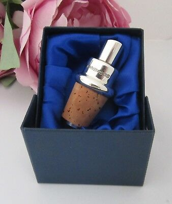 Sterling Silver Wine Pourer set in a Presentation Box  - Fully Hallmarked - New