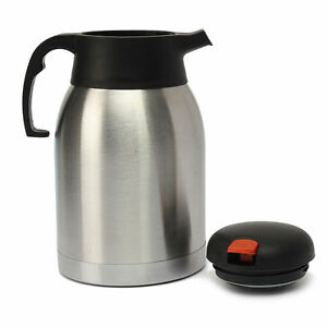 silver 2 litre airpot vacuum flask stainless thermos jug tea coffee flask ebay. Black Bedroom Furniture Sets. Home Design Ideas