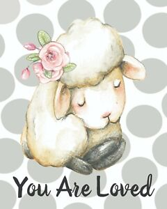 Details About Nursery Wall Art Baby Print Lamb 8x10