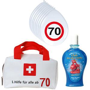 1 Erste Hilfe Tasche Gefüllt Mit Shampoo 8 Luftballons Zum 70