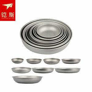 Keith Ultralight Titanium Plate Outdoor Camping Travel Cooking Bowl Tableware