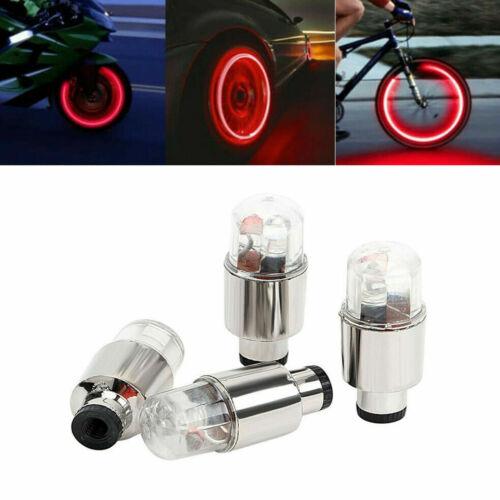 4Pcs Car Motorcycle Bike Wheel Tire Tyre Valve Cap Neon LED Flash Lights Lamps