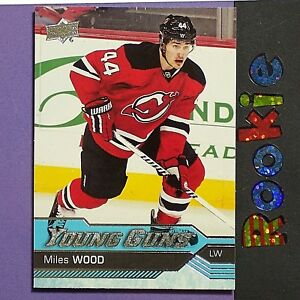 save off 7d118 441d8 Details about MILES WOOD RC 2016/17 UD Young Guns #453 New Jersey Devils YG  ROOKIE