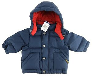 Polo Ralph Lauren Baby Boys Down Jacket Detachable Hood Blue Size 6 Months