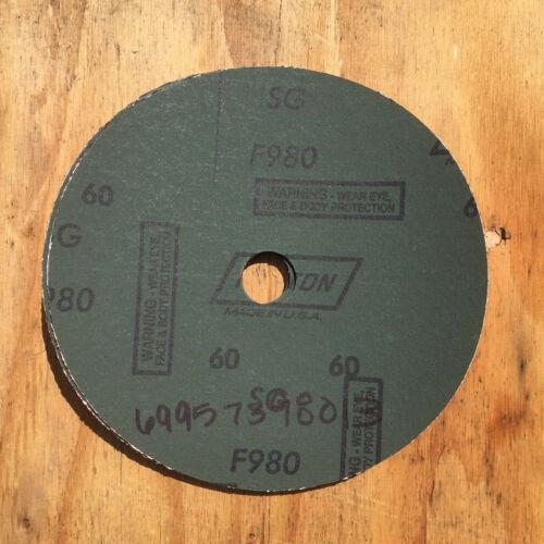 "SET OF 5 NORTON BLAZE F980 COARSE 60 GRIT FIBER 7/"" SANDING DISCS #69957398013"
