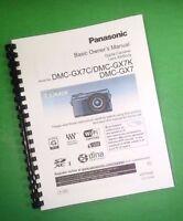 Laser Printed Panasonic Basic Dmc-gx7 Gx7c Gx7k Manual User Guide 104 Pages